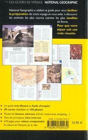 Rome - 4ème de couverture - Format classique