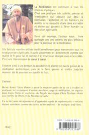 Meditation Creatrice (La) - 4ème de couverture - Format classique