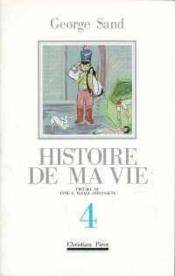 Histoire De Ma Vie T4 - Couverture - Format classique
