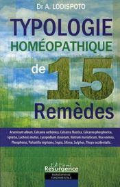 Typologie homéopathique de 15 remèdes - Intérieur - Format classique