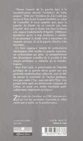 La Gauche A Venir ; Politique Et Mondialisation - 4ème de couverture - Format classique