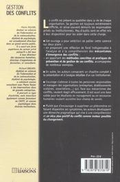 Gestion Des Conflits ; La Communication A L'Epreuve - 4ème de couverture - Format classique