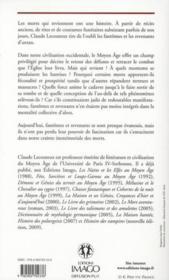 Fantômes et revenants au Moyen Age - 4ème de couverture - Format classique