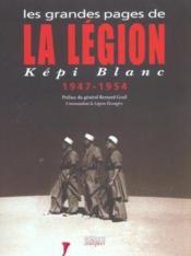 Grandes pages de la legion - kepi blanc - Couverture - Format classique