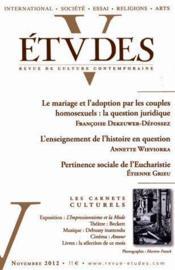 Revue Etudes Assas ; Novembre 2012 - Couverture - Format classique