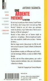 Une Ardente Patience - 4ème de couverture - Format classique