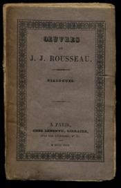 OeŒuvres de J.J. Rousseau Dialogues Tome XVI / Rousseau J.J. / Réf 11518 - Couverture - Format classique