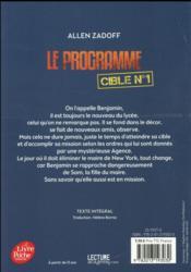 Le programme t.1 - 4ème de couverture - Format classique
