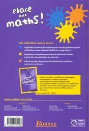 PLACE AUX MATHS ; mathématiques ; CM2 ; manuel de l'élève (édition 2008) - 4ème de couverture - Format classique