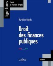 Droit des finances publiques (édition 2018) - Couverture - Format classique