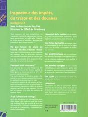 Inspecteur Des Impots, Du Tresor Et Des Douanes - 4ème de couverture - Format classique