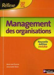 Management des organisations ; terminale STG ; livre de l'élève (édition 2008) - Intérieur - Format classique