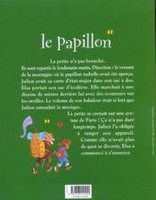 Le papillon - 4ème de couverture - Format classique