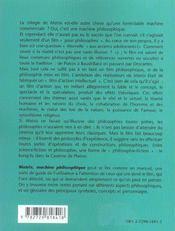Matrix machine philosophique - 4ème de couverture - Format classique