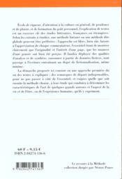L'Explication De Texte - 4ème de couverture - Format classique