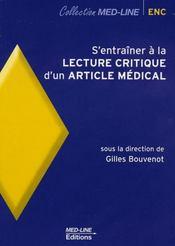 S'entraîner à la lecture critique d'un article médical - Intérieur - Format classique