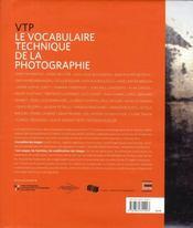 Le vocabulaire technique de la photographie - 4ème de couverture - Format classique