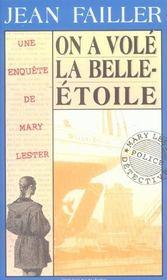 MARY LESTER T.9 ; on a volé la Belle-Etoile - Intérieur - Format classique