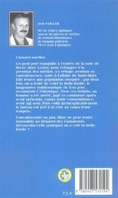 MARY LESTER T.9 ; on a volé la Belle-Etoile - 4ème de couverture - Format classique