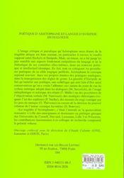 ETUDES DE LETTRES N.269 ; poétique d'Aristophane et langue d'Euripide en dialogue - 4ème de couverture - Format classique