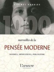 1000 merveilles de la pensée moderne - Couverture - Format classique
