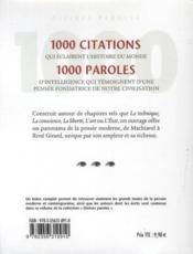 1000 merveilles de la pensée moderne - 4ème de couverture - Format classique