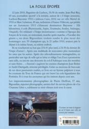 Les forcenés de la route Luchon-Bayonne comme en 1910 - 4ème de couverture - Format classique