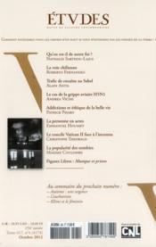 Revue Etudes Assas N.417/4 ; Octobre 2012 - 4ème de couverture - Format classique