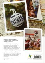 Les boules de Noël ; 55 modèles au tricot ; en direct de Scandinavie - 4ème de couverture - Format classique