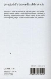 Portrait de l'artiste en déshabillé de soie - 4ème de couverture - Format classique
