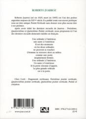 Dixième poésie verticale - 4ème de couverture - Format classique