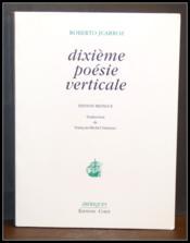 Dixième poésie verticale - Couverture - Format classique