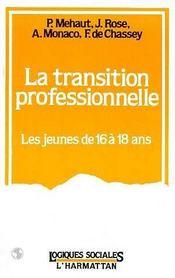 La Transition Professionnelle ; Les Jeunes De 16 A 18 Ans - Intérieur - Format classique