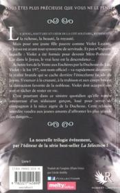 Le joyau T.1 - 4ème de couverture - Format classique