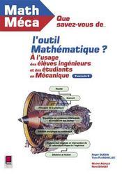 Que Savez-Vous De L'Outil Mathematique ? Fascicule 6 - Intérieur - Format classique