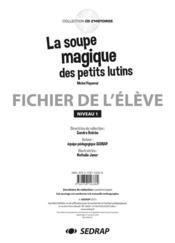 La soupe magique des petits lutins ; fichier de l'élève niveau 1 - Couverture - Format classique
