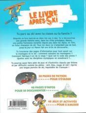 Le livre après-ski - 4ème de couverture - Format classique