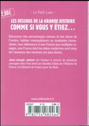 Petits et grands personnages de l'histoire de France (2e édition) - 4ème de couverture - Format classique