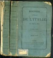Histoire Generale De L'Italie De 1846 A 1850 - 2 Volumes - 1 + 2. - Couverture - Format classique