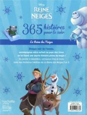 La Reine des Neiges ; 365 histoires pour le soir - 4ème de couverture - Format classique