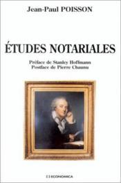 Etudes Notariales - Couverture - Format classique