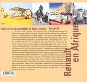Renault En Afrique 1901-1939 - 4ème de couverture - Format classique
