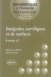 Integrales Curvilignes Et De Surface Niveau L2 Cours Et Exercices Corriges - Intérieur - Format classique