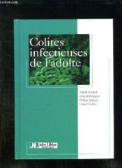 Colites infectieuses de l'adulte. - Couverture - Format classique