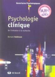 Psychologie clinique - Couverture - Format classique