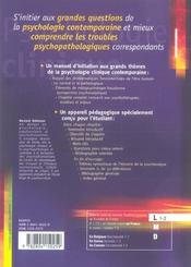 Psychologie clinique - 4ème de couverture - Format classique