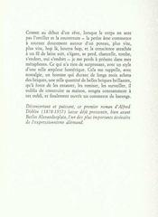 Le rideau noir, roman des mots et des hasards - 4ème de couverture - Format classique