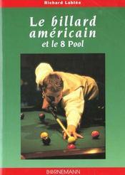 Le billard americain et le 8 pool - Intérieur - Format classique