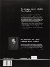 Auteurs En Scène ; Théâtres D'Oc... Et D'Ailleurs N.1 ; Max Rouquette Ou La Tentation Théâtrale ; Décembre 1996 - 4ème de couverture - Format classique