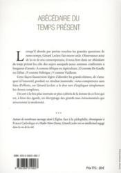 Abécédaire du temps présent ; chroniques de la modernité ambiante - 4ème de couverture - Format classique